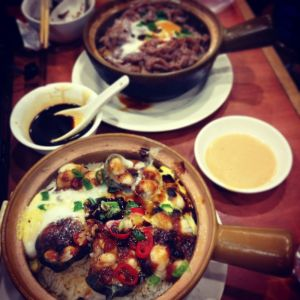 Black bean and pepper eel claypot rice