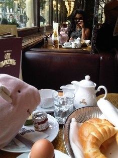 Brunch in a cafe in vienna last fall